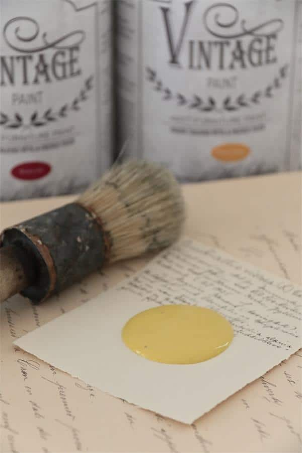 warm yellow vintage chalk paint