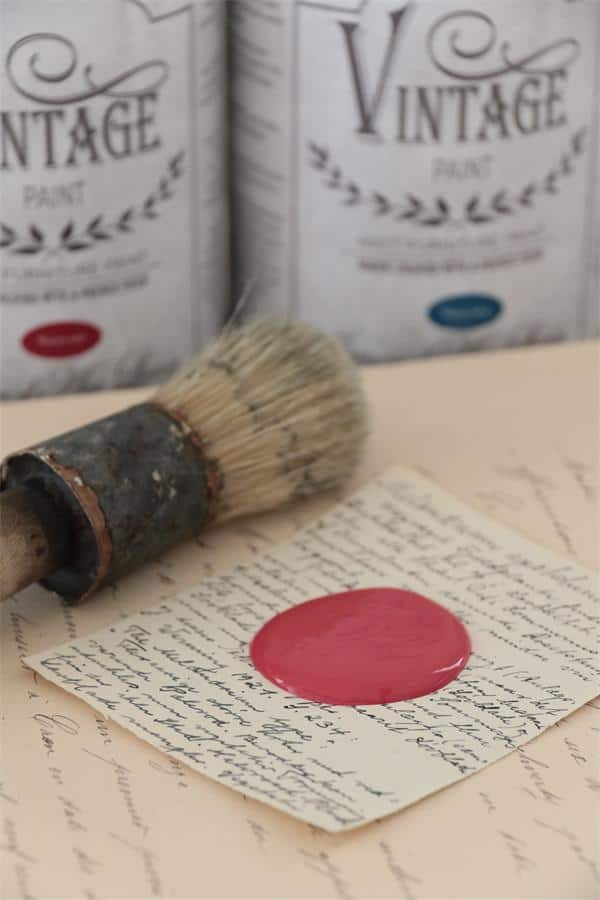 warm red vintage chalk paint