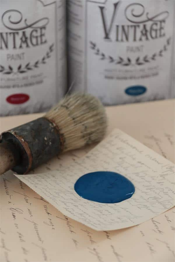warm blue vintage chalk paint