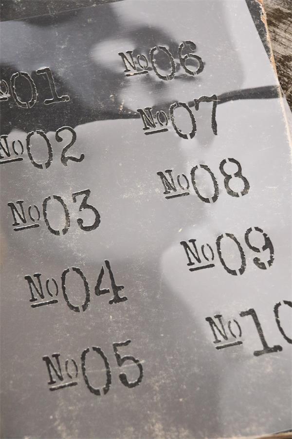 stencil numeri vintage chalk paint