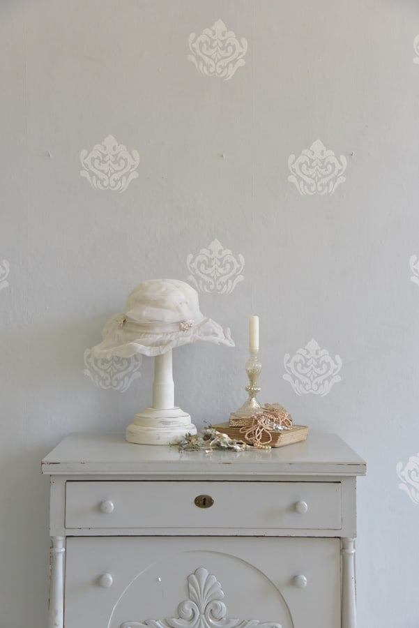 stencil fiore barocco in schiuma riutilizzabile vintage paint