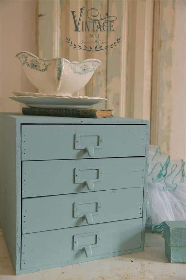 dusty turquoise vintage chalk paint