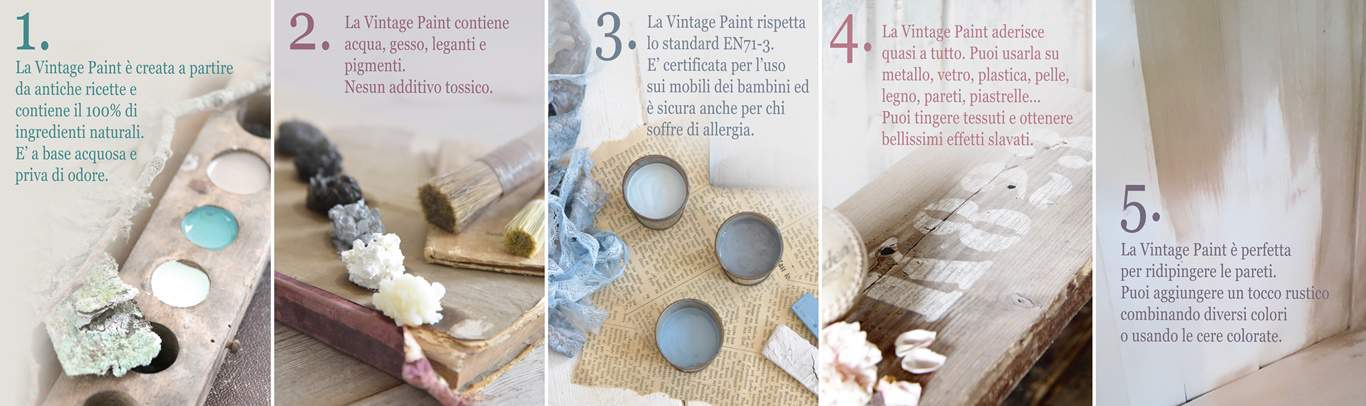 Vintage chalk Paint autentico look gessoso