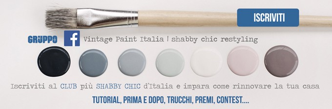 gruppo facebook vintage chalk paint autentico look gesso