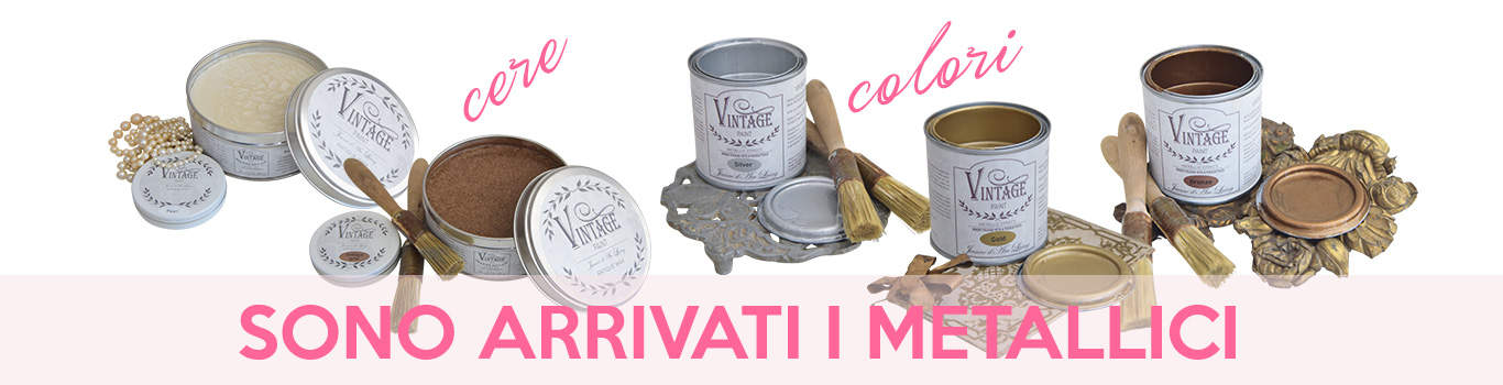 colori metallici Vintage chalk paint