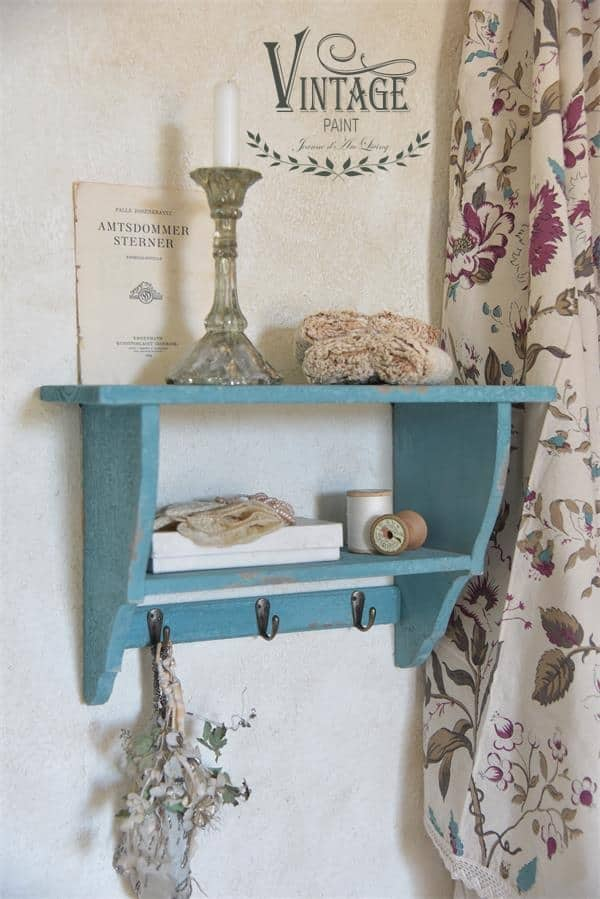 old turquoise vintage chalk paint