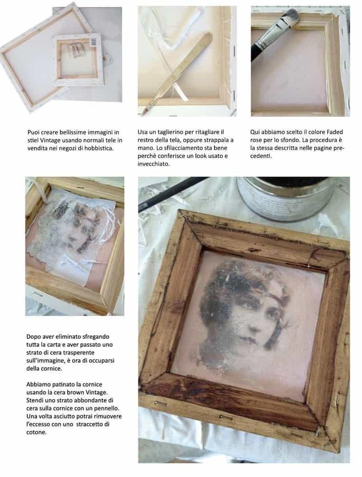 ricpiare immagini su legno e tela
