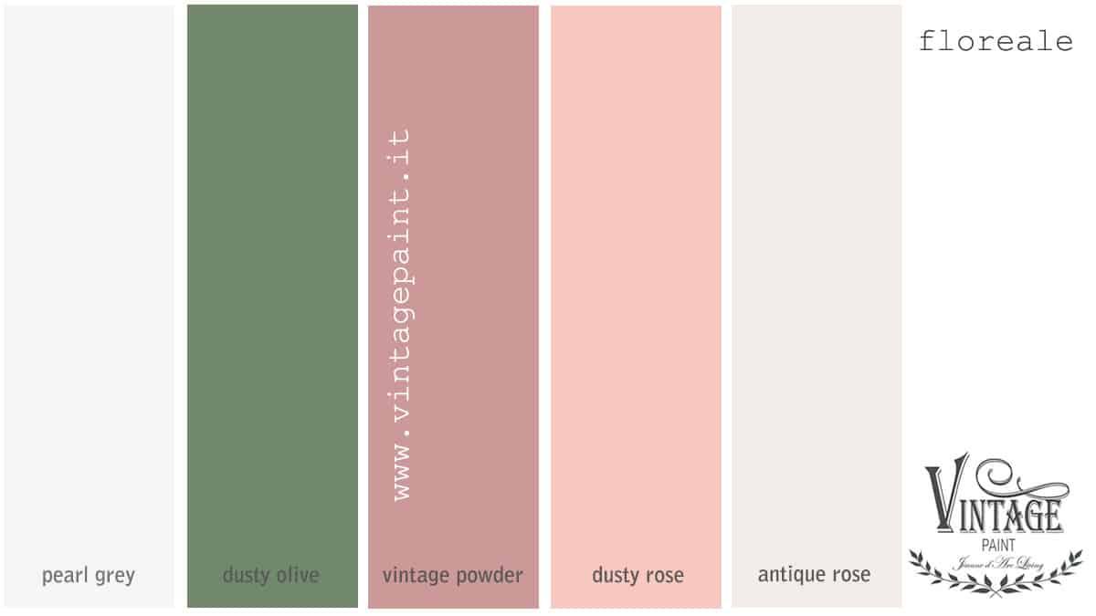 floreale abbinamento colori vintage chalk paint colori shabby