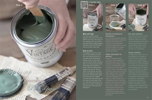 istruzioni d'uso vintage chalk paint