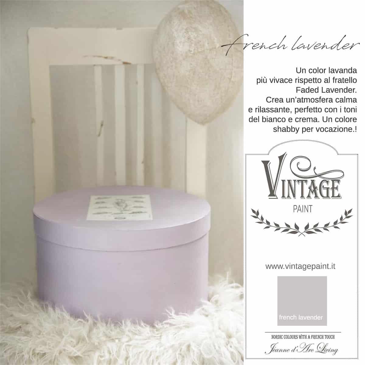 french lavender lavanda viola vintage chalk paint vernici shabby chic autentico look gesso