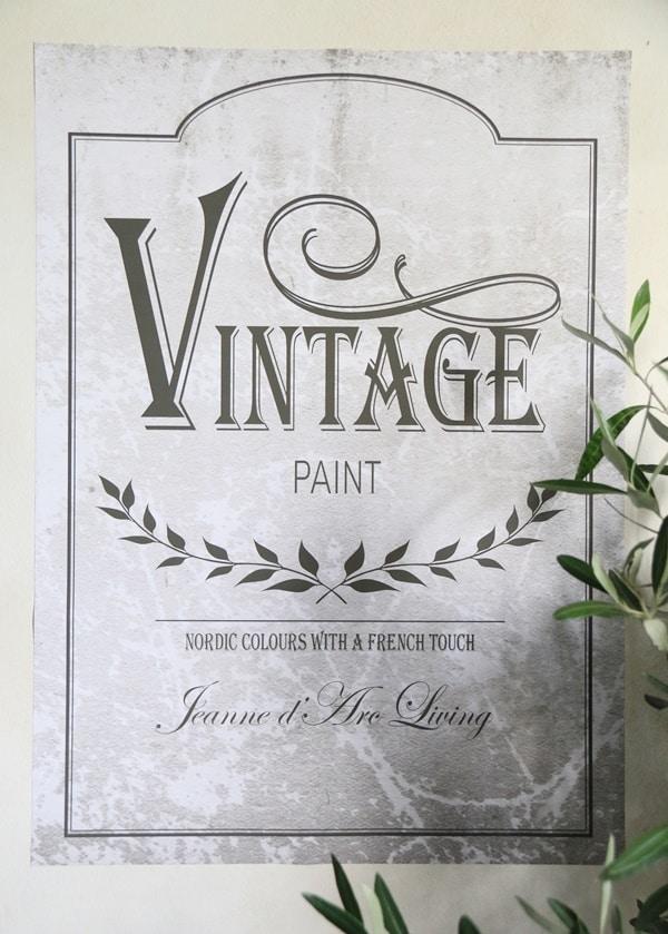 vintage chalk paint