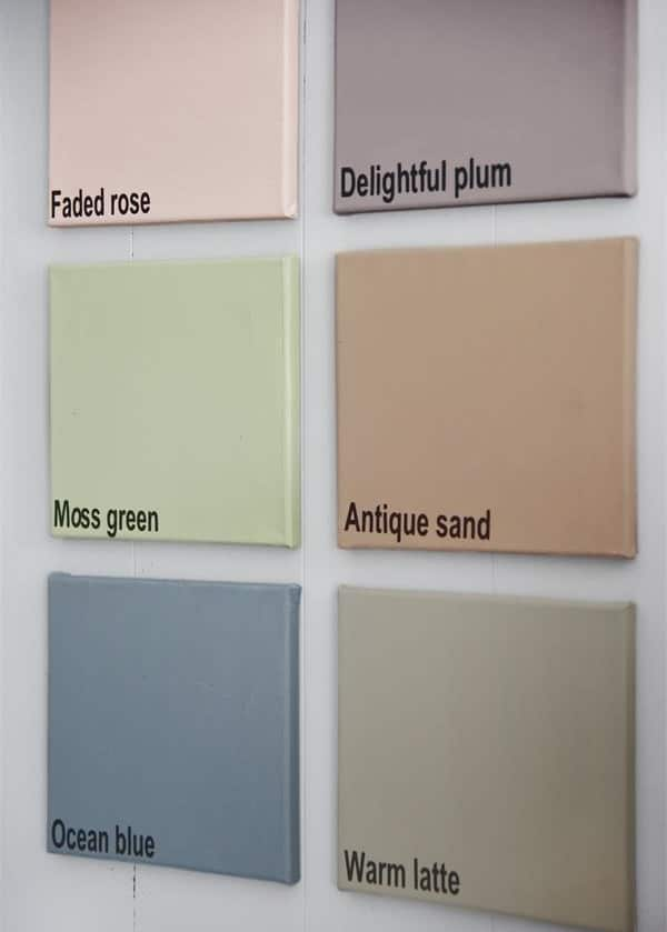colori vintage chalk paint autentico look gesso