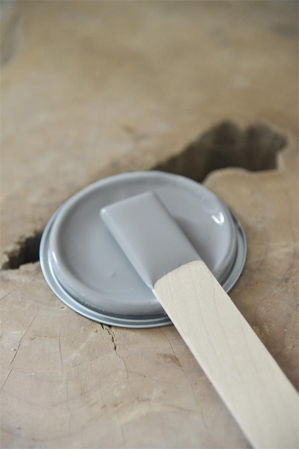 warm grey Vintage chalk Paint autentico look gesso