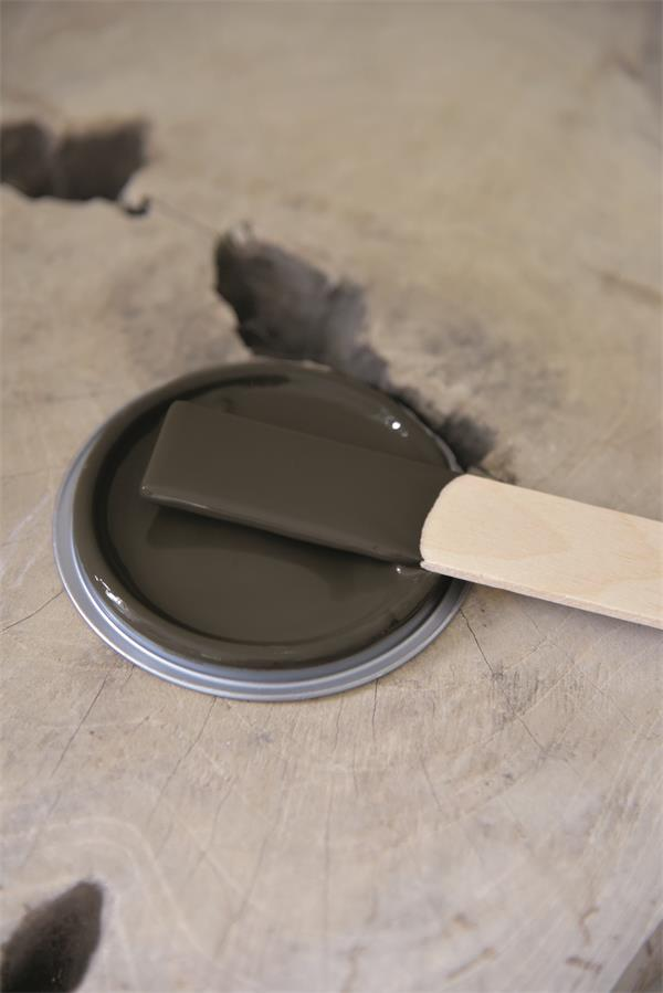 chocolate brown Vintage chalk Paint autentico look gesso