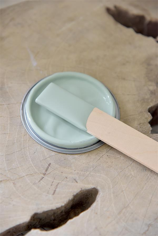 dusty green Vintage chalk Paint autentico look gesso