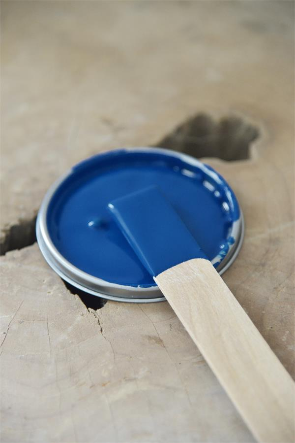 warm blue Vintage chalk Paint autentico look gesso