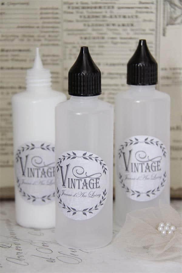 decorare e scrivere con la Vintage chalk paint