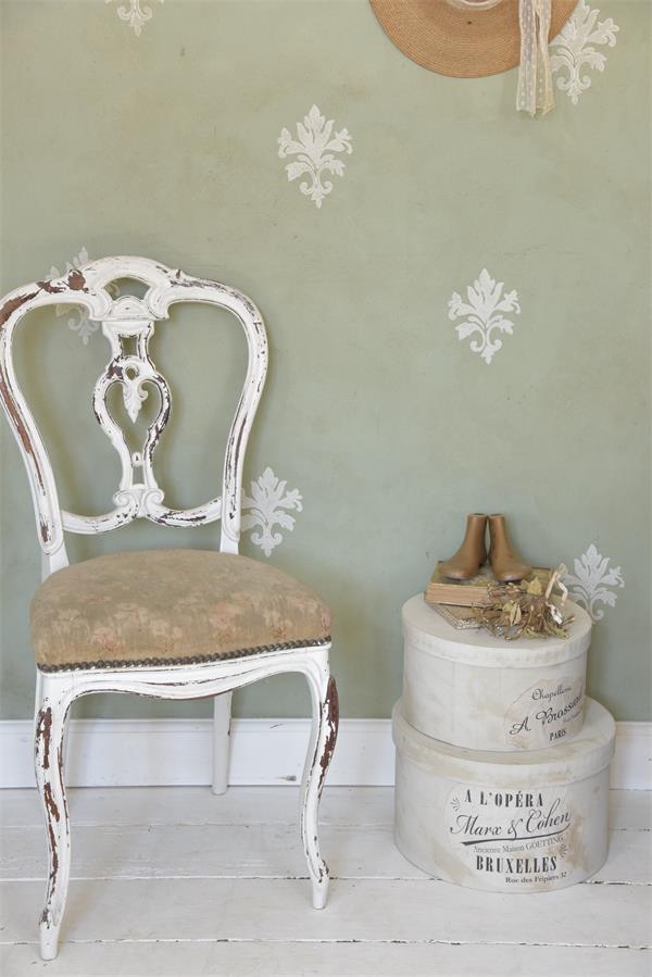 stencil fiore in schiuma riutilizzabile vintage paint