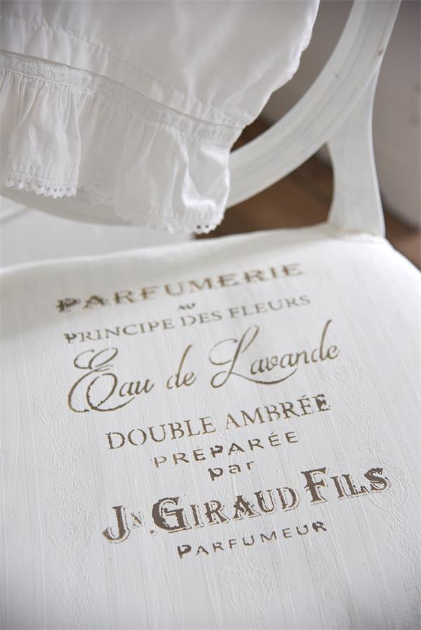 stencil scritte french shabby chic parfumerie