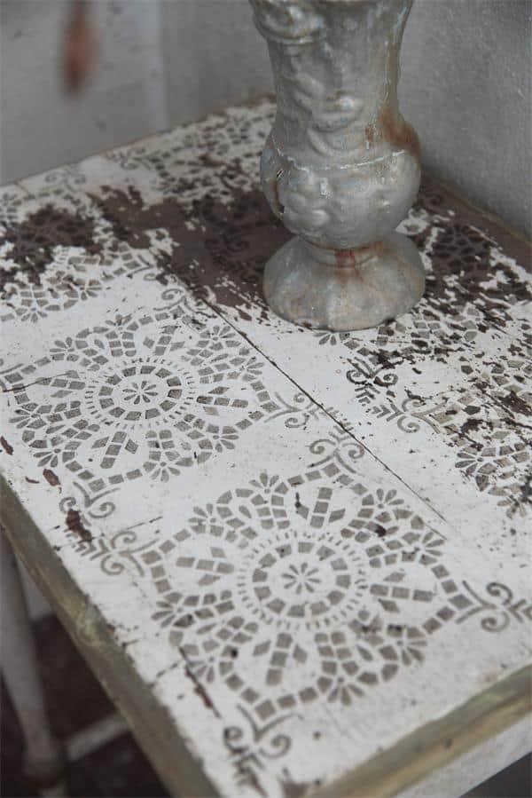 stencil motivo quadrato marocco simile piastrelle