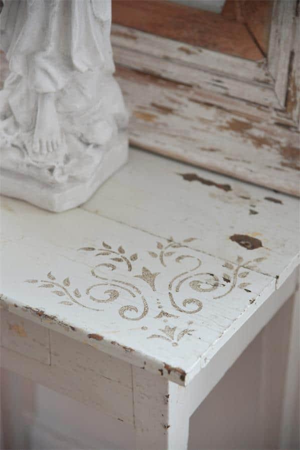 stencil angolo per tavoli e mobili