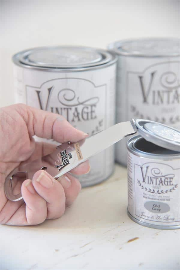 apri latta Vintage chalk paint