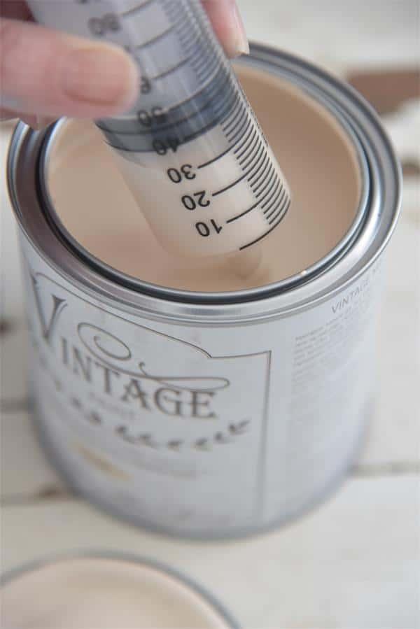 dosatore per mescolare la Vintage chalk Paint
