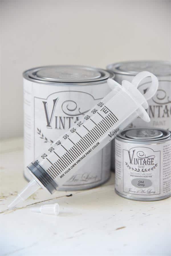 siringa dosatrice per mescolare la vintage chalk paint