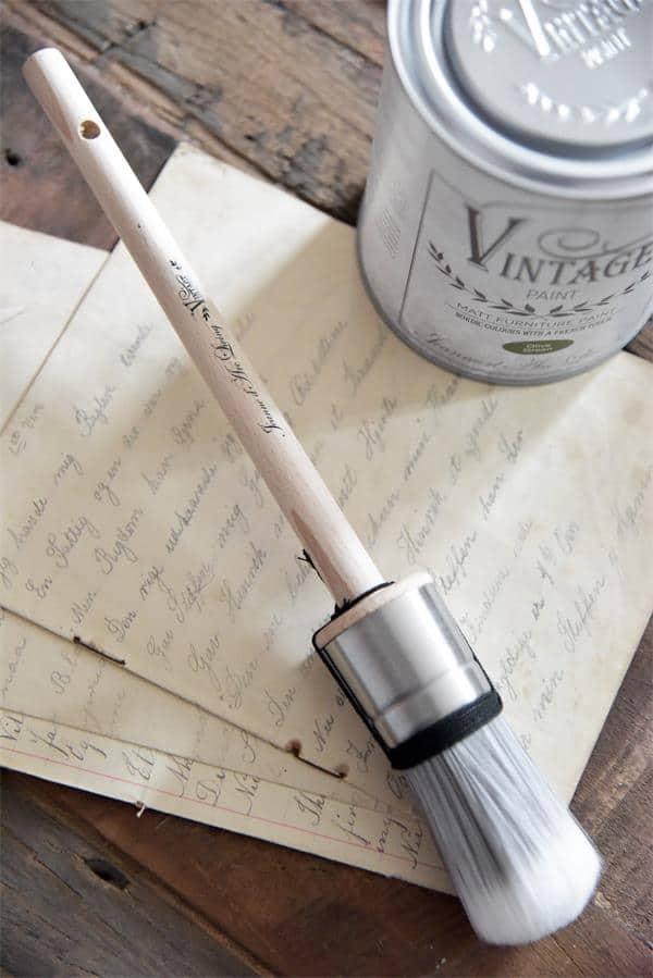 pennello tondo per pittura a gesso