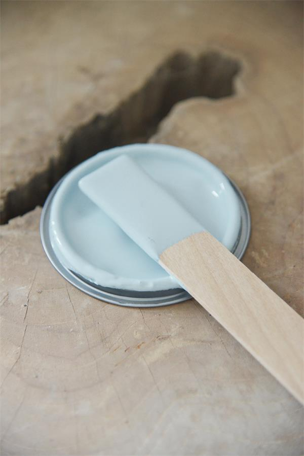 powder blue Vintage chalk Paint autentico look gesso