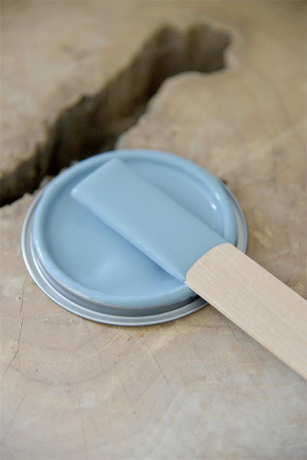 dusty blue Vintage chalk Paint autentico look gesso