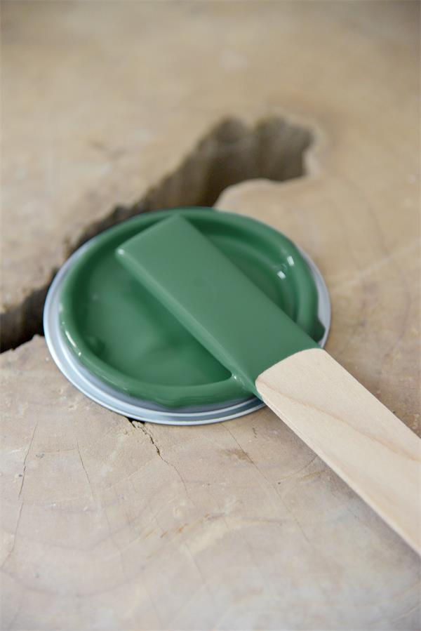 forest green Vintage chalk Paint autentico look gesso