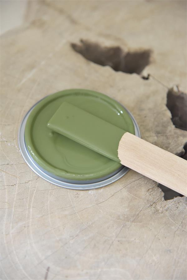 olive green Vintage chalk Paint autentico look gesso