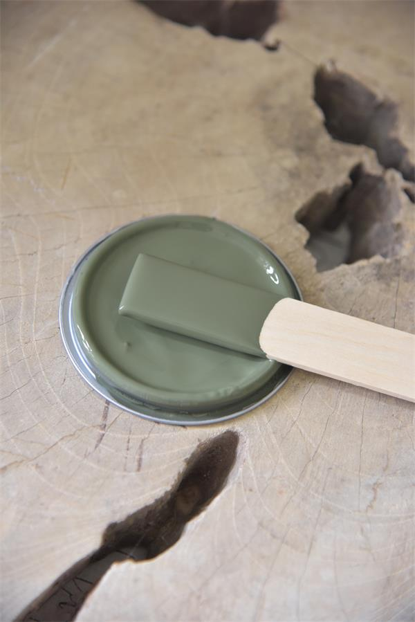 dusty olive Vintage chalk Paint autentico look gesso