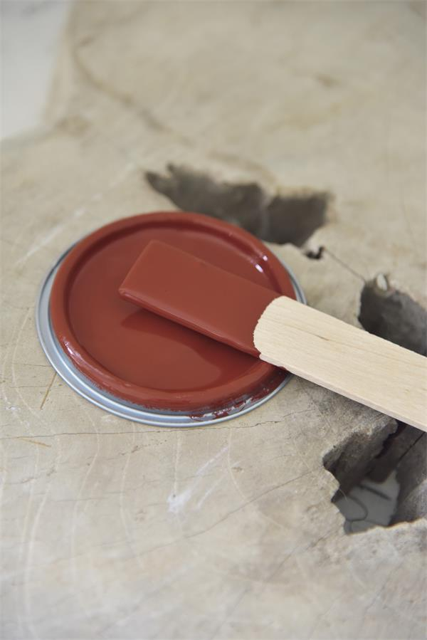 rusty red Vintage chalk Paint autentico look gesso
