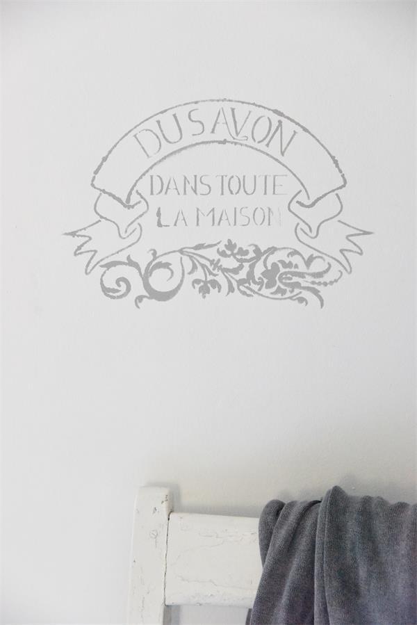 stencil testo french shabby