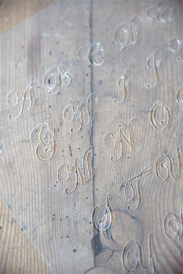 stencil calligrafico lettere minuscole