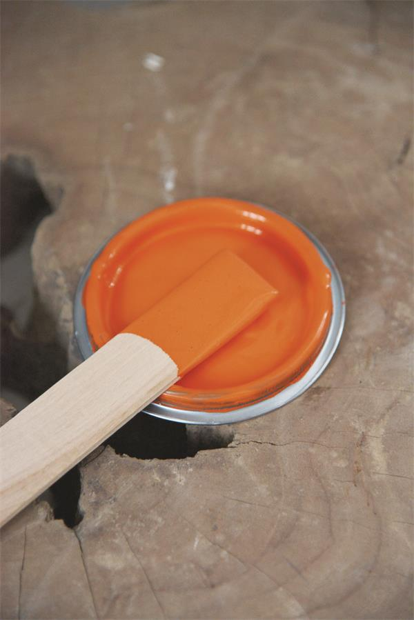 bright orange Vintage chalk Paint autentico look gesso