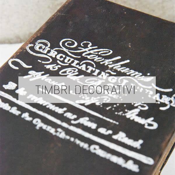 timbri stencil decorativi tipo IOD