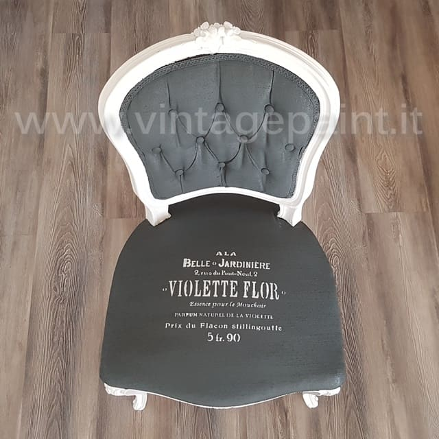 ricolorare il tessuto con la Vintage chalk paint
