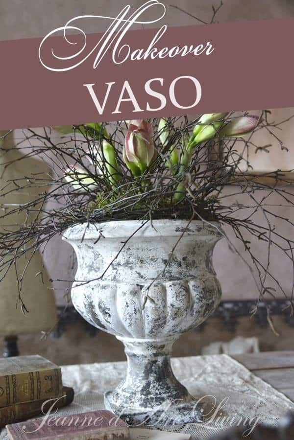 vaso dopo l'uso della vintage chalk paint