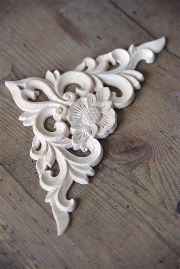 fregio in legno per angolo per decorare mobili e pareti