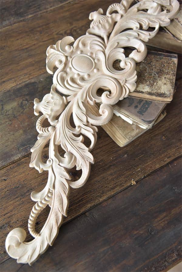 fregio decorativo puro legno cimasa