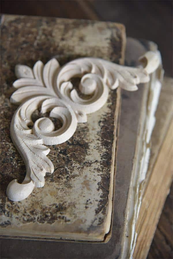 fregio decorativo puro legno boucles