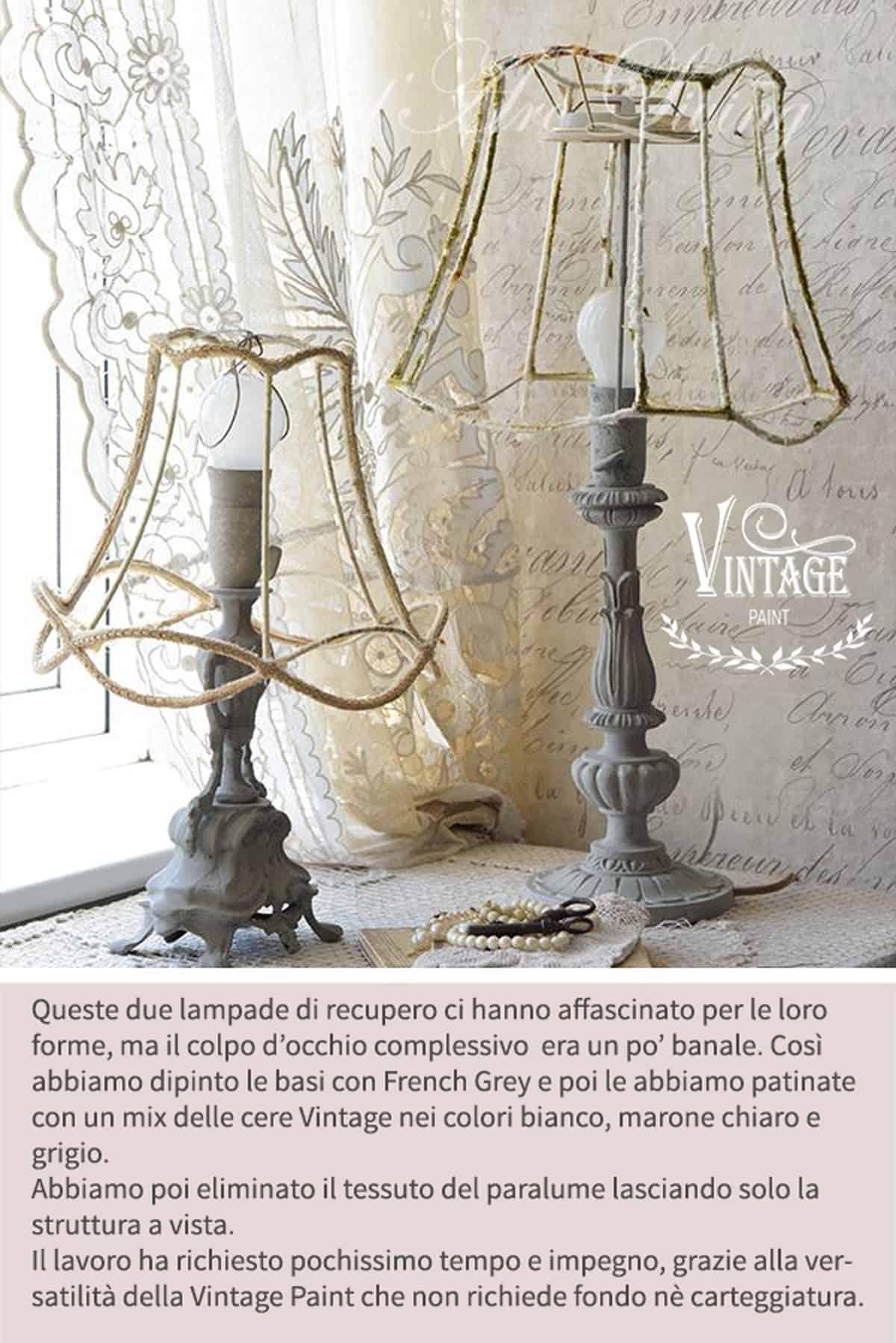 verniciare lampade con pittura a gesso