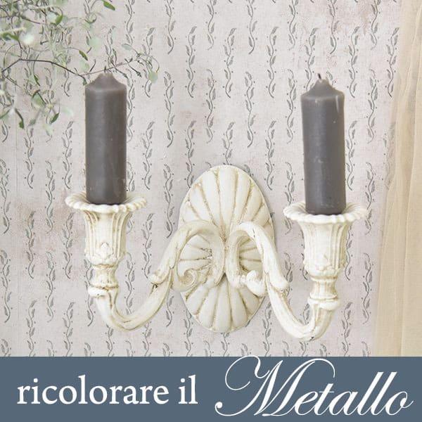 ricolorare lampade in metallo con la Vintage chalk Paint