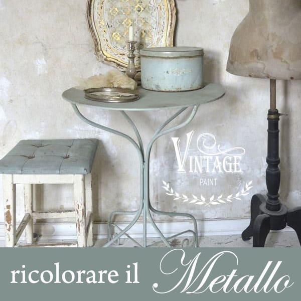 Ricolorare Un Tavolino In Metallo Con La Vintage Chalk Paint – TUTORIAL