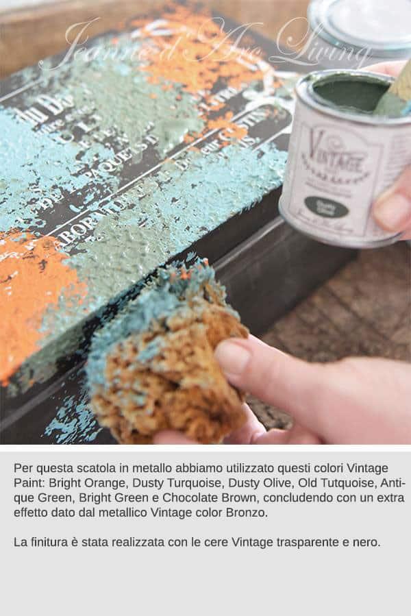 vernice per ricreare l'effetto del metallo ossidato