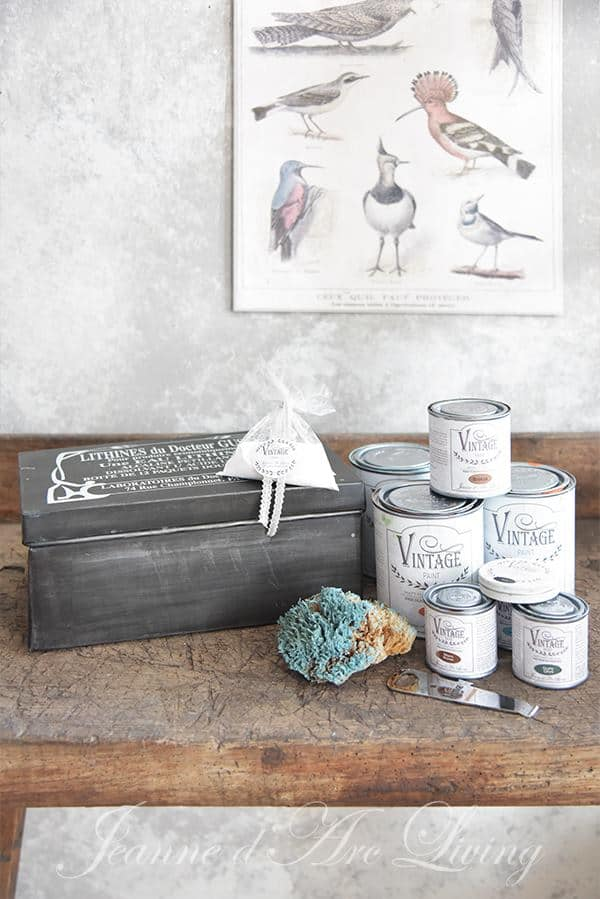 vintage chalk paint per ricreare effetto ruggine verderame
