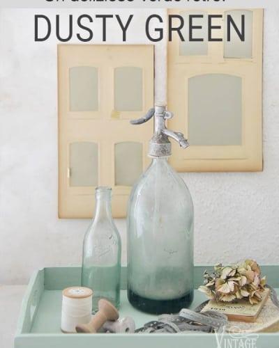 dusty green vintage paint